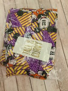 NWT LuLaRoe TC Disney Leggings Purple Yellow Orange Geometric Mickey Mouse