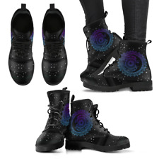 Sun and Moon Black Handcrafted Women's Booties Vegan-Friendly Leather Boots