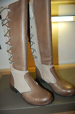 NIB Naya Apollonia Boots Premium leather shoe bags shredded wheat Taupe 5  M