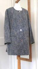 Marks & Spencer Classic Blu Grigio 3/4 Cappotto Invernale 24 Con Etichette Nuovo di Zecca