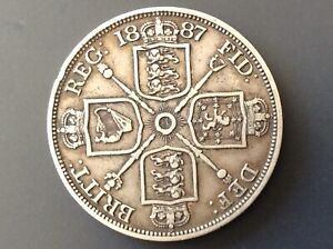 QUEEN VICTORIA DOUBLE FLORIN 4 Shillings, in superb condition .