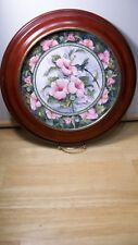 Royal Doulton Hummingbird Plate with Vanhygant Smythe Wood Frame