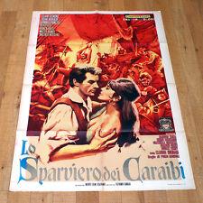 LO SPARVIERO DEI CARAIBI poster manifesto Francioli Monlaur Desmond Pirati
