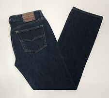 EUC Diesel Mens Basic Jeans Luster Straight Fit Size 32W 30L Dark Blue Italy