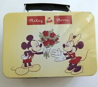 USA SELLER Retro Vintage Disney Classic Mickey Minnie Mouse Flowers Tin Lunchbox