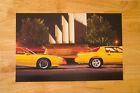 3rd Generation  Pontiac Trans Am Formula Poster Print Jamaican Yellow Profile
