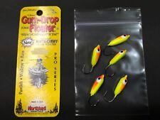 Northland GumDrop Floater,#2, 25-5PJ2-108, 5/pk,Chartreuse/Orange