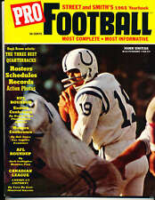 1965 Street and Smith Pro Football Yearbook Guide Johnny Unitas Baltimore Colts