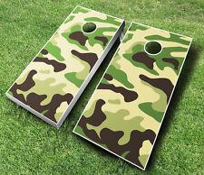 Camoflauge Camo Cornhole Wraps Boards Set Bean Bag Toss + 8 Aca Regulation Bags