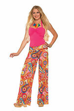 Womens Hippie Paisley Yoga Pants 1960's 1970's Woodstock Pants Adult Size M/L