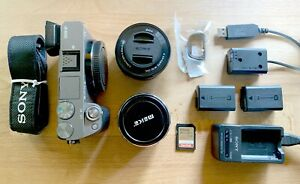 Sony A6000 Camera, Grey, 2 lenses and accessories