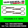 CT22AA01 SEAT EXEO DOUBLE DIN RADIO REMOVAL RELEASE EXTRACTION KEYS X 4
