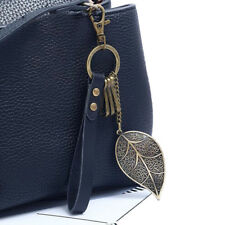 Metal Keyfob Gift for Women Girl Ld Fashion Leaf Design Keychain Key Chain Ring