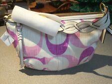 New COACH Pink Tonal C Soho Hobo Bag Braided Handle Retail $278