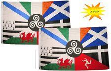 3x5 3'x5' Wholesale Set (2 Pack) European Celtic Nations Flag Banner