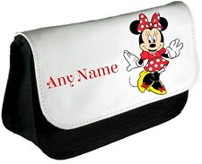 Personalised Minnie Mouse Style Pencil Case/Make Up Bag *Choice of text colour*
