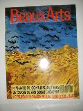 Beaux Arts Magazine N°78 Toroni Van Gogh Gonzalez Tony Garnier Melotti Garnier