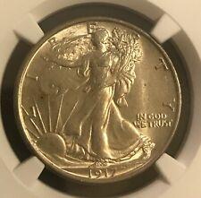 1917-d.  Reverse walking Liberty half , choice AU , NGC AU58  ,  scarce