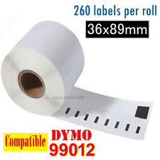 2x Rolls Thermal Address Label 99012 Compatible for Dymo/Seiko 36 x 89 mm