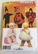 2008 SIMPLICITY SEWING PATTERN #2788 Toddler Costumes HALLOWEEN Sizes 1/2-4 1922