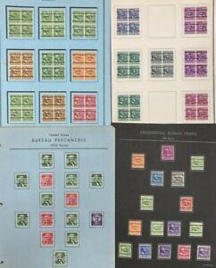 UNITED STATES 1938 PRESIDENTIAL BUREAU KLEIN ALBUM PREXIES PRECANCEL LOT (4700)