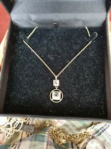 BNIB DYRBERG/KERN Drop Pendant Necklace With Crystals In Box