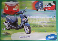 MBK SCOOTER NEW DOODO 125  DEPLIANT CATALOGO BROCHURE CATALOG
