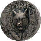2021 Ivory Coast 5000 Francs Predators Wolf UHR 3 oz Silver Coin - 750 Mintage