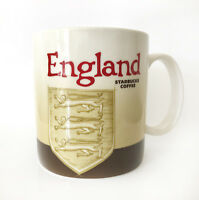Starbucks England Global Icon Mug 16 Oz 2010 Rare MIC Version 1 Coat of Arms