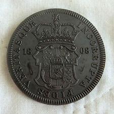 GEORGE III 1808 GREAT BRITAIN BRONZED COPPER PROOF PATTERN SHIELD CROWN - coa