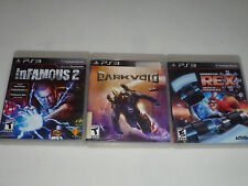 PLAYSTATION 3 GAME LOT DARKVOID GENERATOR REX AGENT OF PROVIDENCE INFAMOIUS 2 >>