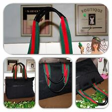 GORGEOUS GUCCI EXTRA LARGE GG MONOGRAM BLACK DIAPER BAG/TOTE/HANDBAG!