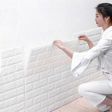 10 Stück Selbstklebend Wandpaneele 3D Brick Tapete Wasserdicht Tapeten 70x77cm