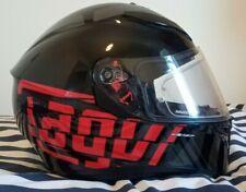 AGV K-3 SV Medium/Large Myth Full Face Motorcycle Motorbike Helmet - Black / Red