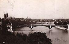 Basel, Die drei Rheinbrücken, 1912 nach Frankfurt-Heddernheim versandt