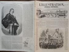 L' ILLUSTRATION 1852 N 485 INAUGURATION DU BUSTE DU GRAND PEINTRE SIMON LANTARA