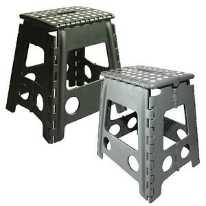 FOLDING STOOL MULTI PURPOSE PORTABLE CHAIR HOME SEAT PLASTIC COLLAPSIBLE STEP