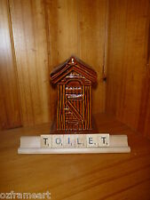 TOILET SCRABBLE LETTER TILES & RACKS STAND FREE POST - GIFT - OUT DOOR DUNNY