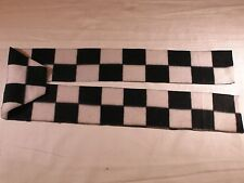 Checkerboard Black and White Fleece Scarf for kid or pet