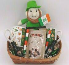 Couples Irish Leprechaun Christmas Gift Hamper Anniversary Parent Baileys Basket