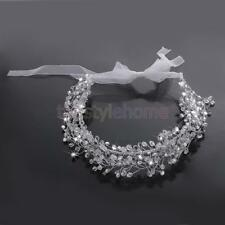 MagiDeal Wedding Bride Crystal Ribbon Wedding Hair Vine Headband Tiara Crown