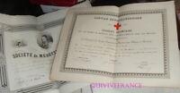 DIPLOMES DOCTEUR DE MULHOUSE  - AMBULANCES GUERRE DE 1870-1871 SSBM