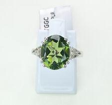Fern Green Quartz & Topaz Gemstone Ring, Size M, Gems Tv/ Gemporia