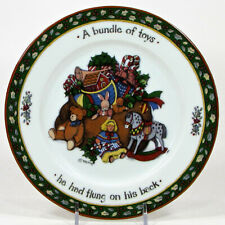 "International China CHRISTMAS STORY 8.25"" Salad Plate Bundle of Toys Winget"