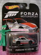 FORZA MOTORSPORT #3 PORSCHE 911 GT3 RS☆ZAMAC;Real Riders☆2017 Hot Wheels Retro