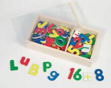 MAGNETBUCHSTABEN + MAGNETZAHLEN Holz 89 Teile Magnete Buchstaben Lernbuchstaben