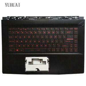 For MSI MS-16R4 MS-16R1 GF63 8RC 8RD US  keyboard Palmrest Case Red backlit