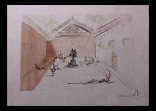 Salvador Dali- Duel in the Sun- Plaza Mayor 73-11 Original Engraving with color