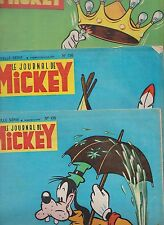 Le Journal de Mickey lot des n°135 à 145 - 1954/1955