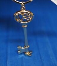 D23 Official Disney Fan Club Keychain Golden Key Chain Ring Keyring New